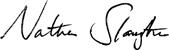 Nathan Slaughter signature